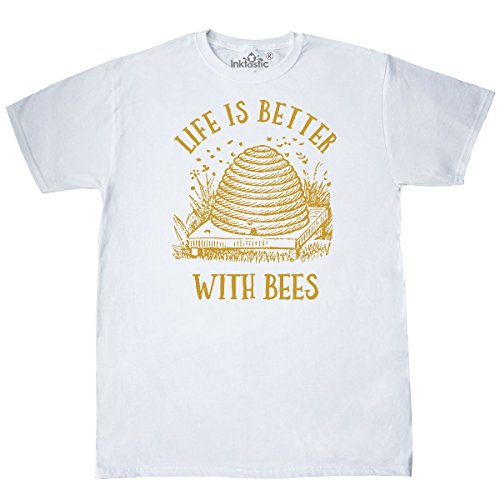 inktastic Life's Better With Bees T-Shirt Small - Bees The Save Apparel
