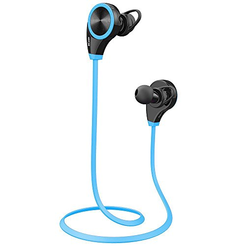 Ecandy Wireless Bluetooth Headphones with Mic for Running, Earphones for iPhone 6s,6 Plus,5s,Mini Air 2,Samsung Galaxy S6 S5 S4,HTC,Android Smart Phones ,Tablets-Blue