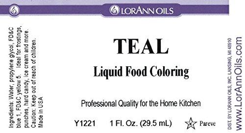 Lorann Oils Liquid Food Color, 1-Ounce, Teal