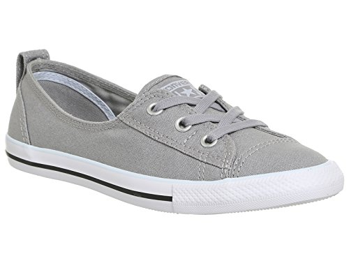 Chaussures basses Converse Chuck Taylor Ballet - Femme - Gris - Ash Grey Blue Canvas Exclusive, 38