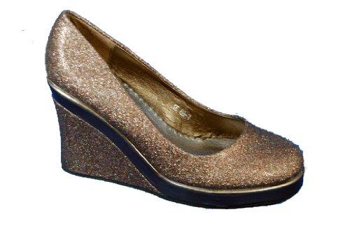 Black Brown or slip wedge shoe glitter Stunning on in w8AxYUnnq