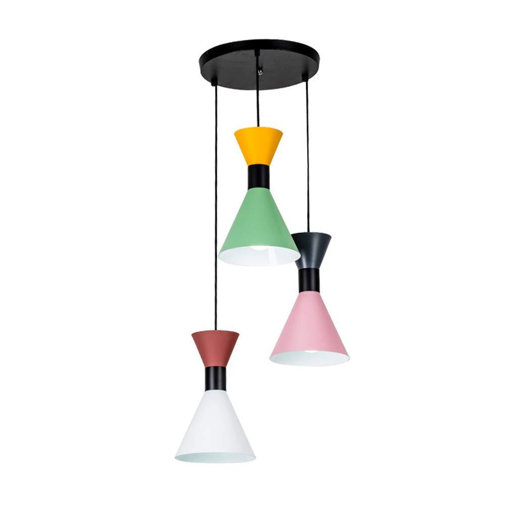 Light-S クリエイティブペンダントライトシンプルモダンなシャンデリアレストラン天井照明家の装飾吊りランプ器具   B07TSHTRHK