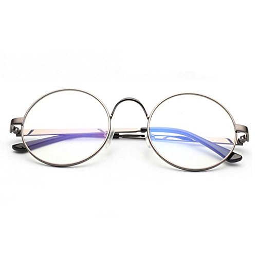 LOMOL Girls Fashion Retro Personality Cute Student Style Transparent Lens Round Frame - Sunglasses Website Super Official