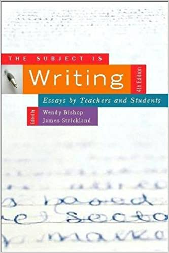 com the subject is writing fourth edition essays by the subject is writing fourth edition essays by teachers and students 4th edition