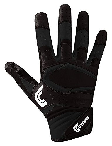 cutters-gloves-s451-rev-pro-20-receiver-football-gloves-with-sticky-c-tack-grip-solid-black-adult-l