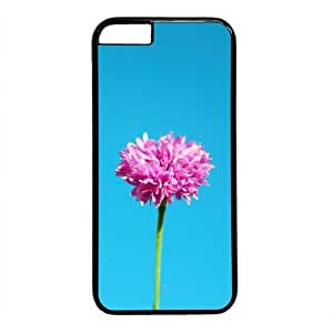 Beautiful Flower Theme Case for iPhone 5C PC Material Black