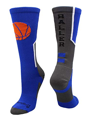 MadSportsStuff Baller Basketball Logo Crew Socks