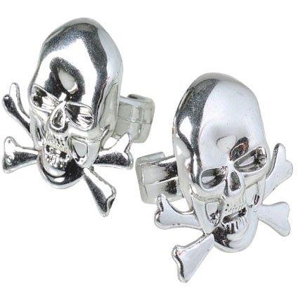Metallic Skull Rings -