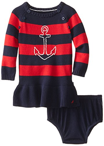 Nautica Baby Girls' Anchor Sweater Dress, Red, 24 Months, used for sale  Delivered anywhere in USA