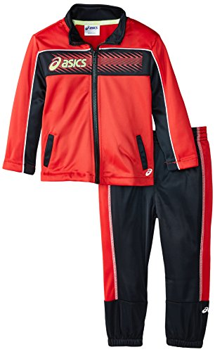 Poly Tricot Pant (ASICS Little Boys' Toddler 2 Piece DNA Pant Set, Performance Black, 3T)