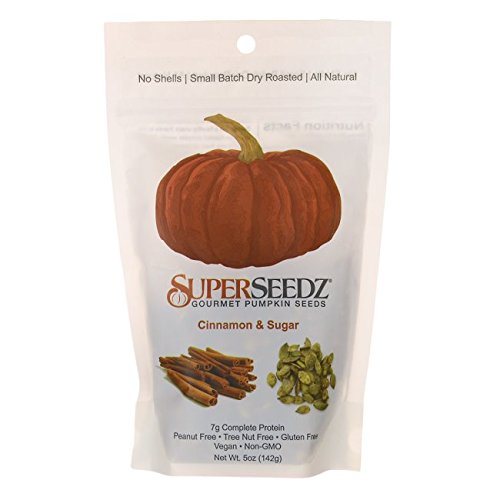 SUPER SEEDZ Gourmet Pumpkin Seeds Cinnamon And Sugar, 5 oz
