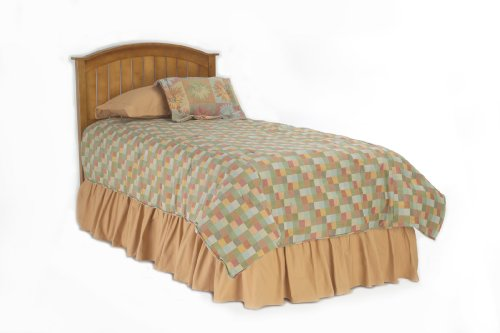 Bed Queen Plantation - Finley Wooden Headboard Panel with Curved Top Rail Design, Maple Finish, Full / Queen
