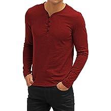 AIYINO Mens Summer Casual V-Neck Button Cuffs Cardigan Short Sleeve T-Shirts