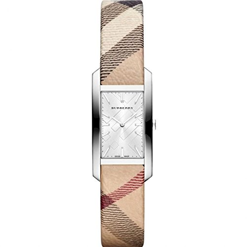Burberry Silver Dial Nova Check Fabric Ladies Watch BU9508