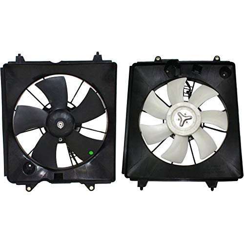Radiator Cooling Fan w/A/C Condenser Fan compatible with 2007-2009 Honda CR-V Left & Right