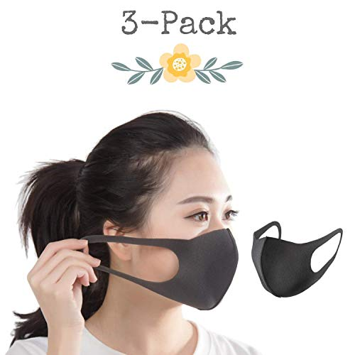 (AMZ WHOLESALE Anti Dust Face Mouth Cover Mask Respirator | 3-Pack,)