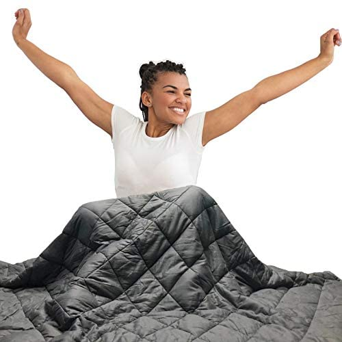 Hypnoser Adult Weighted Blanket Queen Size (20 lbs, 60''x80'' ) | Cooling Heavy Blanket | 100% Breathable Material with Pure Glass Beads