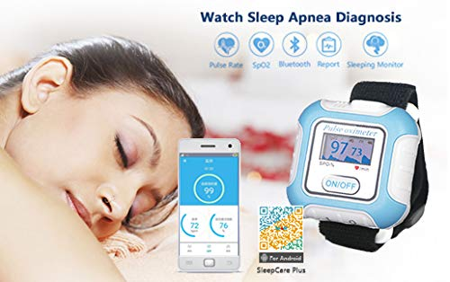 The Berry Company Sleep Monitor Wrist Wear Fingrtip Pulse Rate and Blood Oxygen Saturation Monitor