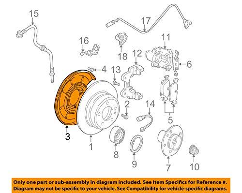 Bmw Brake Backing Plate - BMW 34 21 1 166 107, Parking Brake Backing Plate