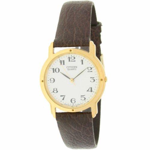 Reloj de señora/cadete CITIZEN - Chapado en oro - Esfera blanca - números grandes Mod.AM-0462-02: Amazon.es: Relojes