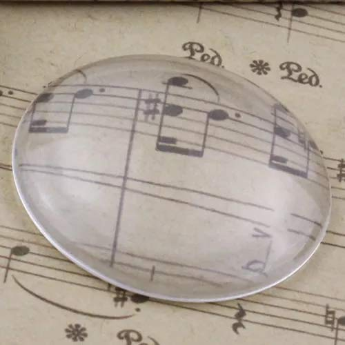 4pc X-Large Glass Clear Round Cabochon Dome Covers for Jewelry Making, Crafts, Magnets - 50mm (2