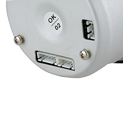 Docooler Automotive Car 3.5 Inches 0-11000 RPM Tachometer Gauge Kit Blue LED: Automotive
