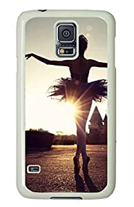 Beautiful Ballet Dancer Theme Case for Samsung Galaxy S5 i9600 PC Material White by ruishername
