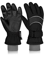 Unigear Kids Winter Gloves, Thermal 3M Thinsulate Ski Gloves Anti Slip Waterproof Outdoor Sports Gloves for Boys and Girls Aged 6-12
