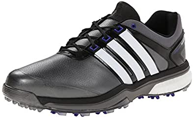 adidas Men's Adipower Boost Golf Shoe, Dark Silver Metallic/Running White/Night Flash, 7 M US