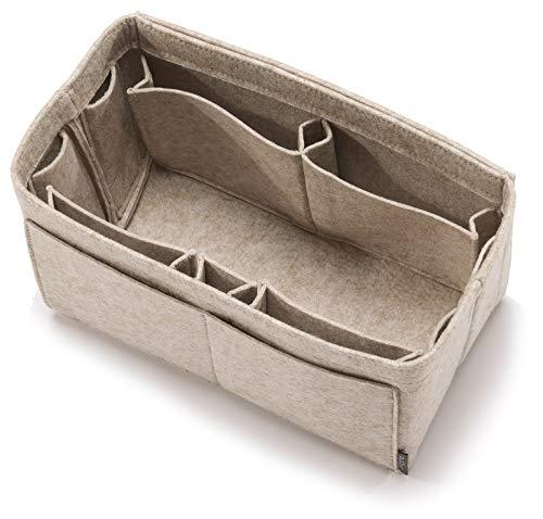 Pelikus Felt Purse & Tote Organizer Insert/Multi-Pocket Handbag Shaper (Large, Oatmeal - L)
