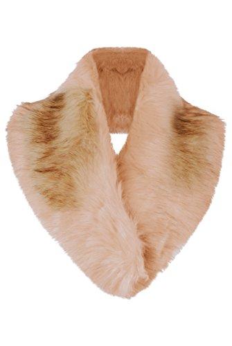 En D'hiver De Momo Manteau Dames Beige Fashions Collier amp;ayat Fourrure Fausse Pour Le xoBerCWd