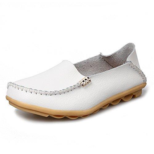 Scarpe Stringate Casual In Pelle Moda Yixinan Per Donna White2
