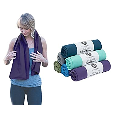 #1 Rated Microfiber Travel & Sports Towel. Absorbent, Fast Drying & Compact. Great for Yoga, Gym, Camping, Kitchen, Golf, Beach, Fitness, Pool, Workout, Sport, Dish or Bath. 100% Lifetime Guarantee!