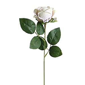 Naiflowers Artificial Roses, 1PC Fake Artificial Flower Real Touch Plastic Plant Home Decorations for Indoor Outside Wedding Party Garden Patio Bridal Bouquet Flower Saint (H) 35