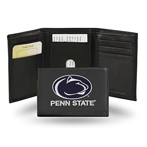 Rico Industries NCAA Penn State Nittany Lions Embroidered Leather Trifold Wallet
