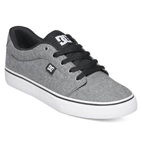 DC Men's Anvil TX SE Skate Shoe, Grey/Grey/Black, 10.5 D US