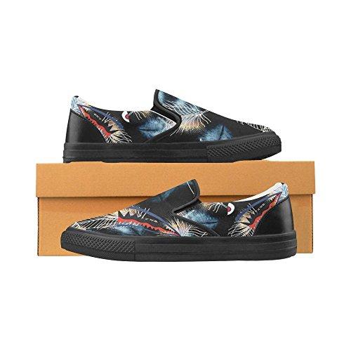 Shoes Mens On Sneaker Shark6 Teeth Canvas Custom Story D Slip Shark qASPzzw