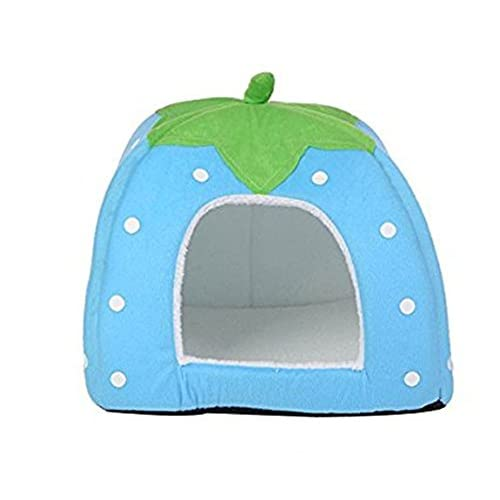 hot sale 2017 Cotton Soft Small Dog Cat Pet Bed House Blue S