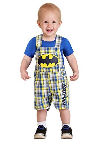 Warner Brothers Baby Boys' 2 Piece Batman Tee and Shortall Set, Blue ()