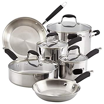 Anolon 31512 Tri-Ply Onyx Cookware Set, Large, Handles