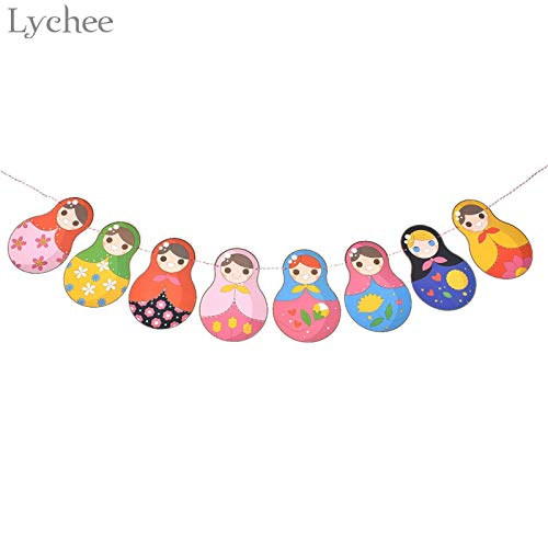 Paper Doll Garland - Cacys-Store - Paper Russian Doll Banner Matryoshka Bunting Garland Baby Shower Kids Birthday Party Decoration