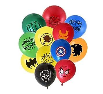 Micher Globos de superhéroes 24 Paquetes 12 Pulgadas Globos ...