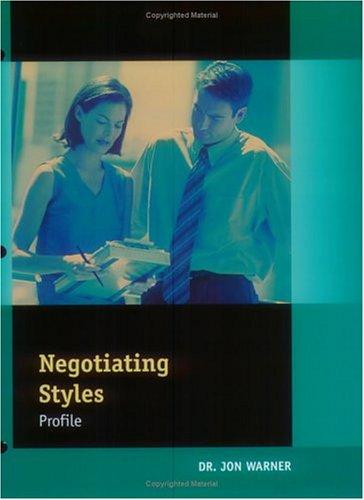 negotiation style profile - 2