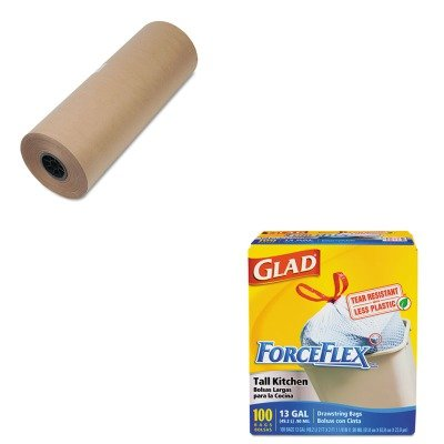 kitcox70427ufs1300039-value-kit-general-supply-high-volume-wrapping-paper-ufs1300039-and-glad-forcef