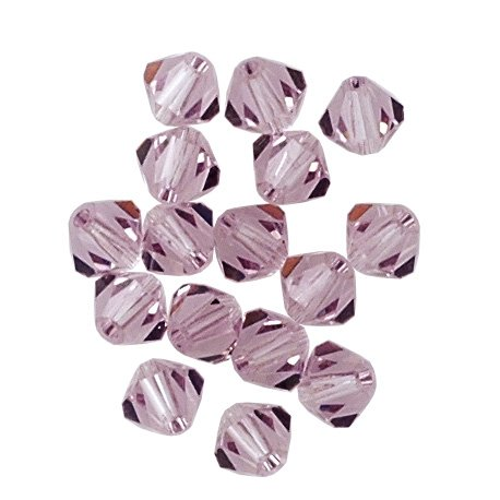 (100 pcs 4mm Swarovski 5301 Crystal Bicone Beads, Light Amethyst, SW-5301)