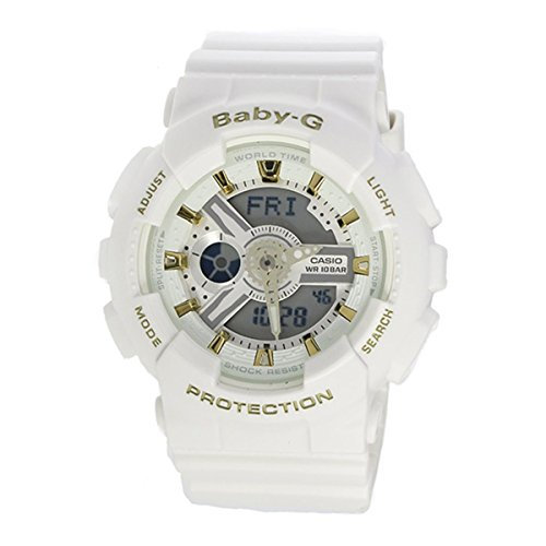 Gold Accent Series (G-Shock BA110GA-7A1 Gold Accent Series White - White / 1 Size)