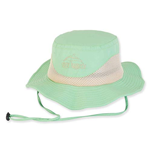 - Guy Harvey Women's Breathable Nylon Hat w/Embroidered Logo Mint & Cleaning Pack