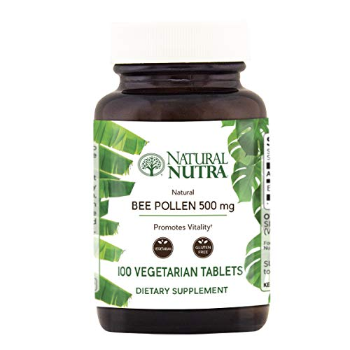 Natural Nutra 100% Pure and Raw Bee Pollen Pills for Energy,