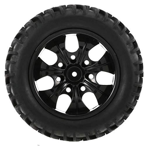 BAOMABA 1/10 RC Wheels 4PCS 1/10 RC Buggy Tyre 20 Spokes Rim for 1/10 HSP Redcat Traxxas Axial SCX10 RC4WD D90 CC01 RC Rock Crawler Black