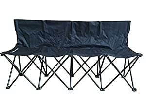 Petra Sports Team Bench, Tailgating, Soccer, Basketball, Lacrosse Sideline Benches. Lightweight Seat, Fold-able And Portable W/ Carry Bag